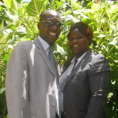 Pastor Samuel and his wife!